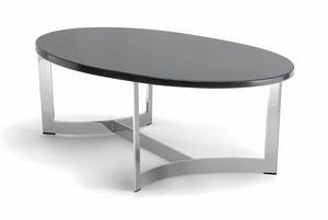 HUGO COFFEE TABLE 088 CO H30 - 088 NO H30, Oval coffee table, with customizable top
