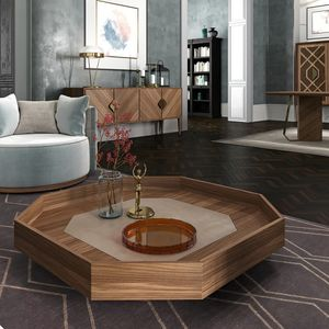 Intrigue Coffe table, Octagonal coffee table in contemporary classical style
