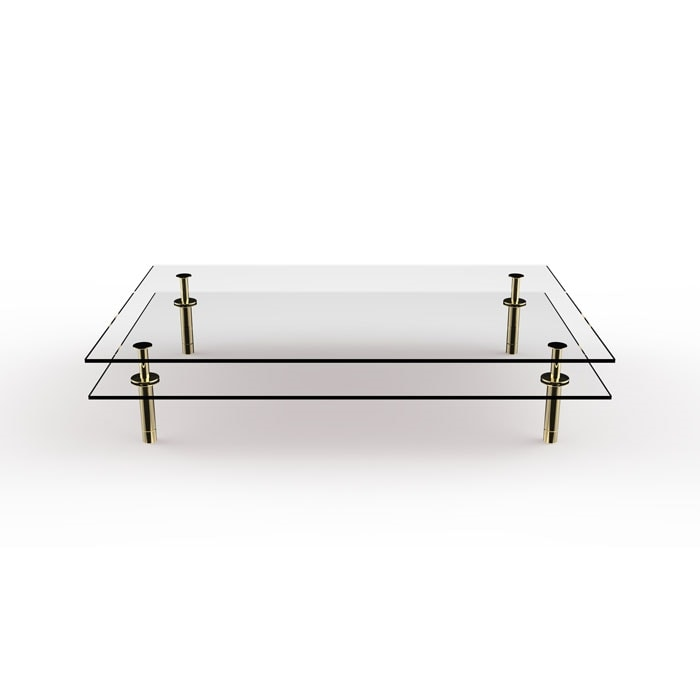 Legs Coffee Table, Coffee table in crystal and brass