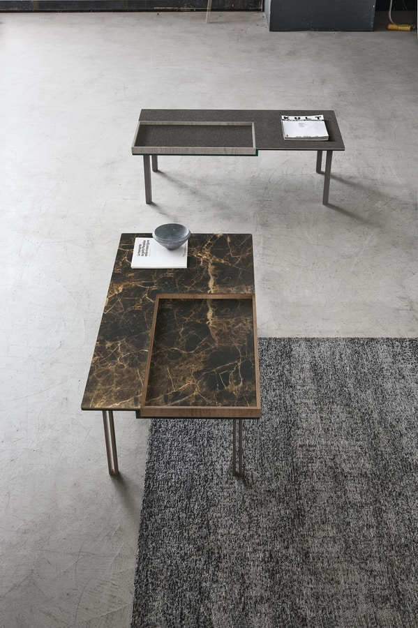 LEVELS L TL516, Coffee table with removable tray