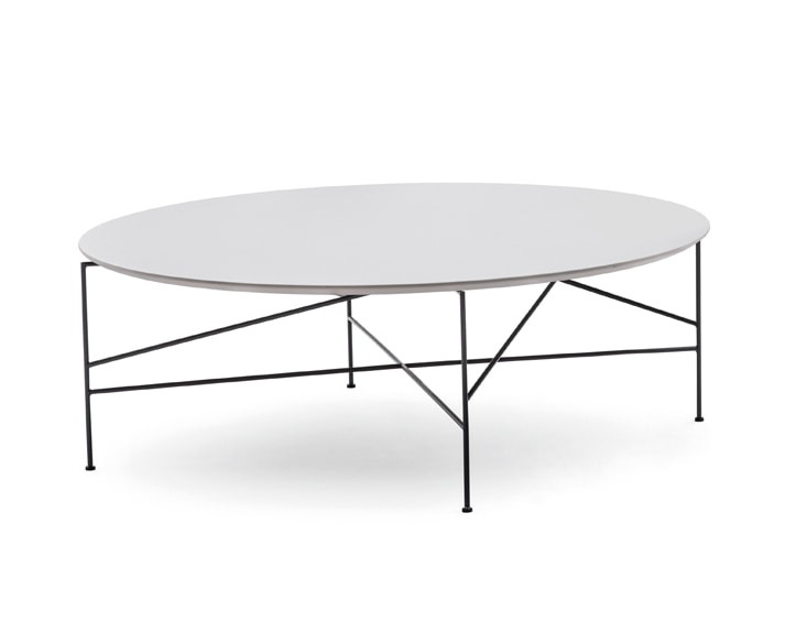 Line 703TD - 703L - 703M, Round coffee table with metal base