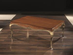 LOVE small table 8679T, Rectangular coffee table in solid wood, for living rooms