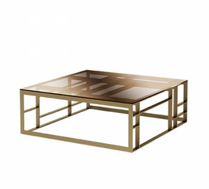 Matrix squared coffee table, Coffee table with wide square glass top