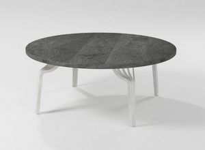 Ming coffee table, Round coffee table with iron base