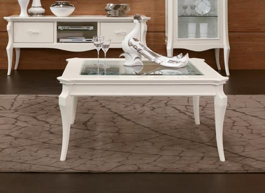 MONTE CARLO / coffee table, Coffee table with glass top
