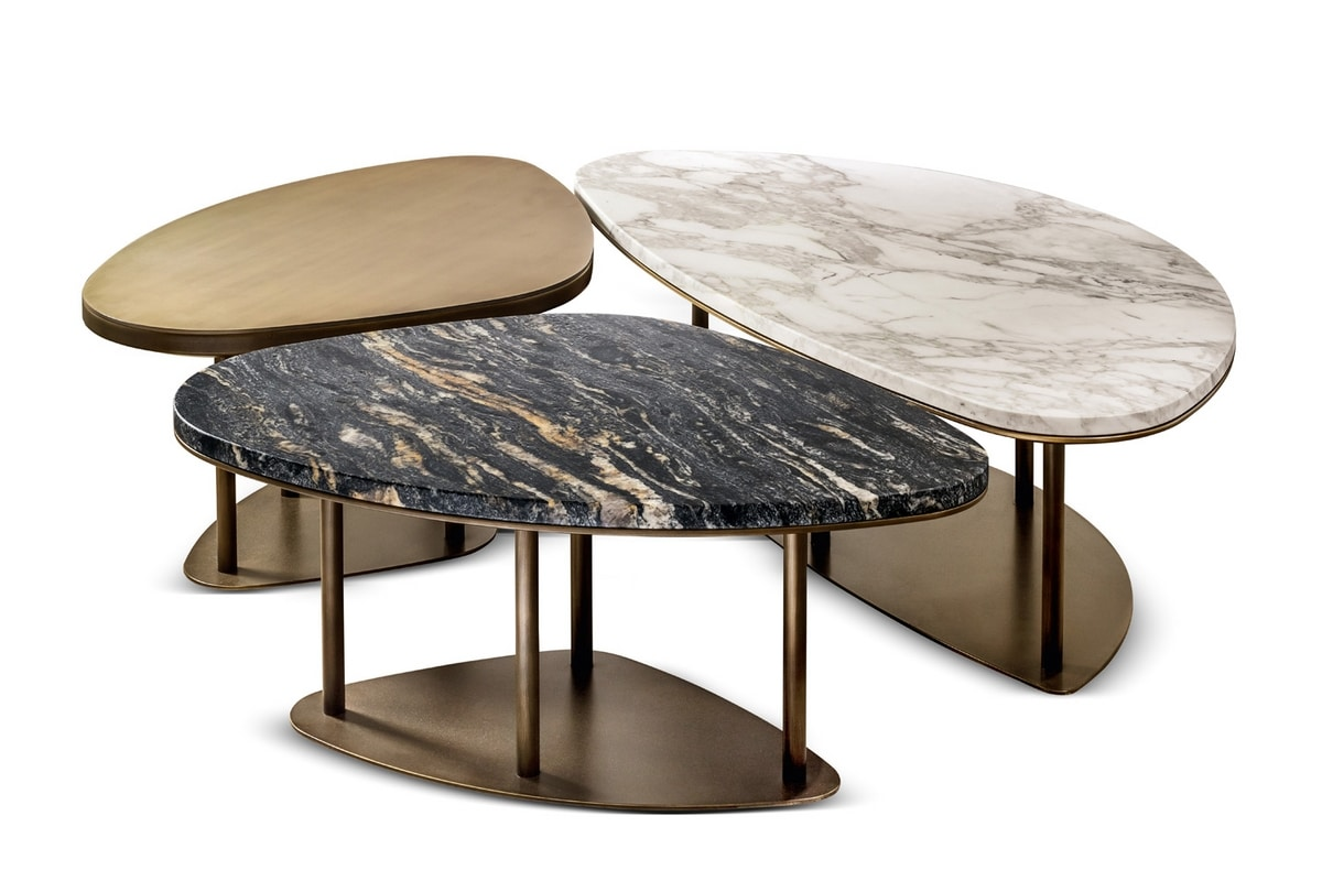 Ninfea coffee tables, Triptych of coffee tables