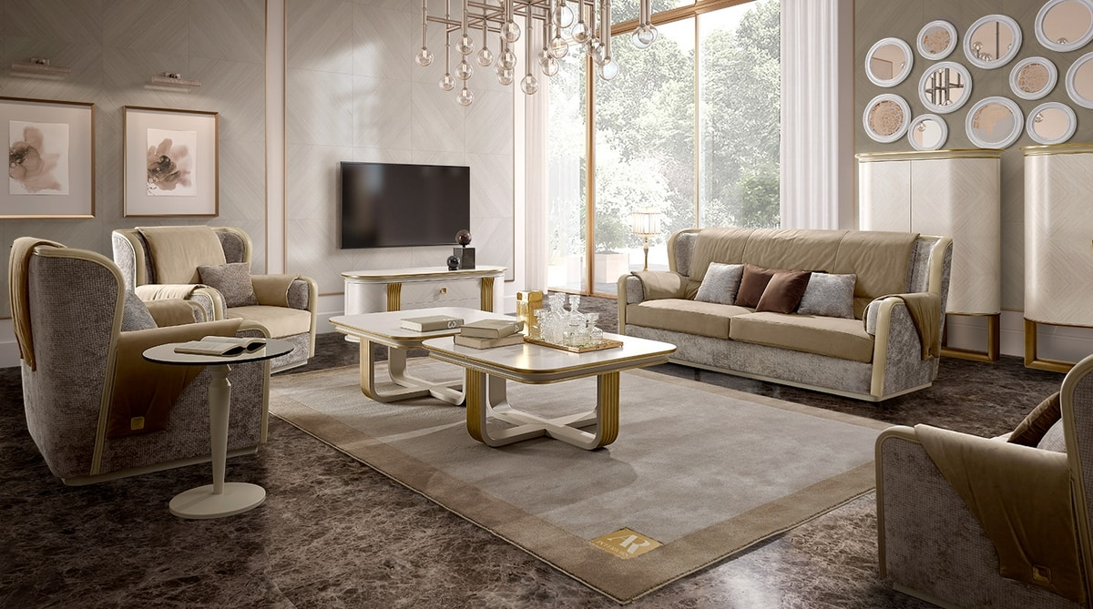 Oliver Art. OL26, Square coffee table for living room