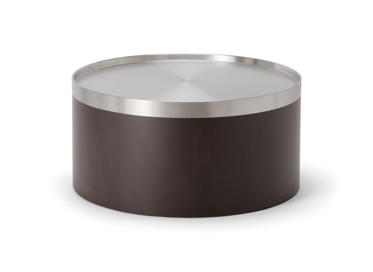 OSLO COFFEE TABLE 086 H30, Low table with round metal top