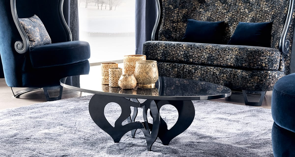 Pablo Art. 305-RO2, Coffee table inspired by Decò style