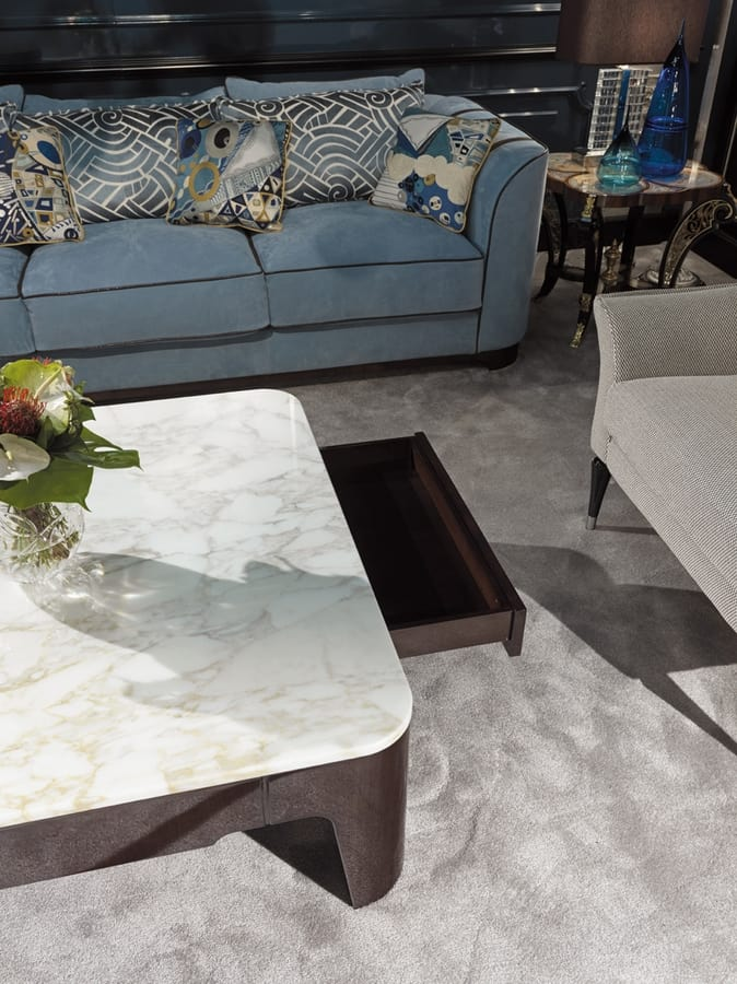 PALAIS-ROYAL Small table, Luxury coffee table with marble top
