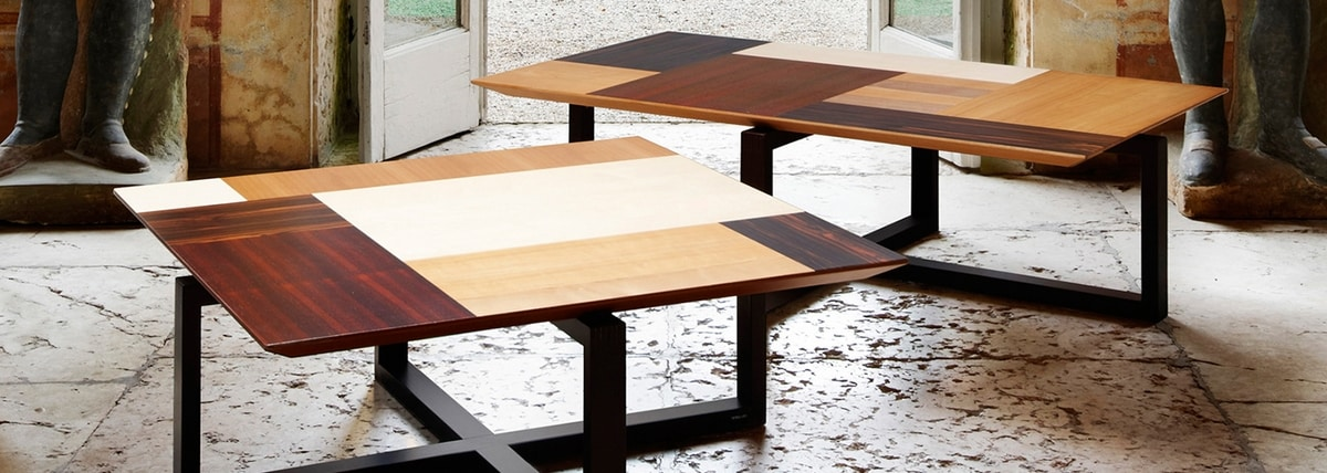 Patchwork 5605, Coffee table with patchwork of essences