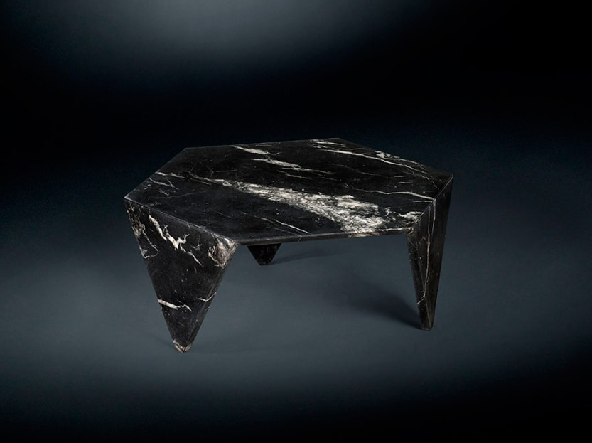 Ruche marble, Coffee table in marble