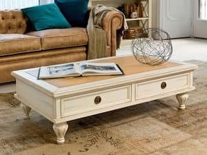 SAROS Art. 1561, Coffee table in lacquered wood, walnut top, for halls