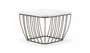 SEATTLE COFFEE TABLE 089, Small tables with light and refined base