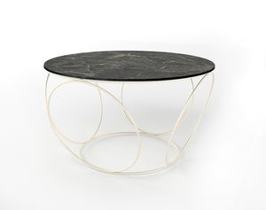 Sfera, Coffee table with iron base, round top