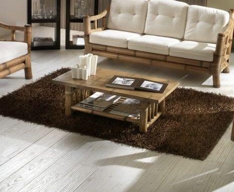 Small table Kona, Rectangular coffee table in bamboo
