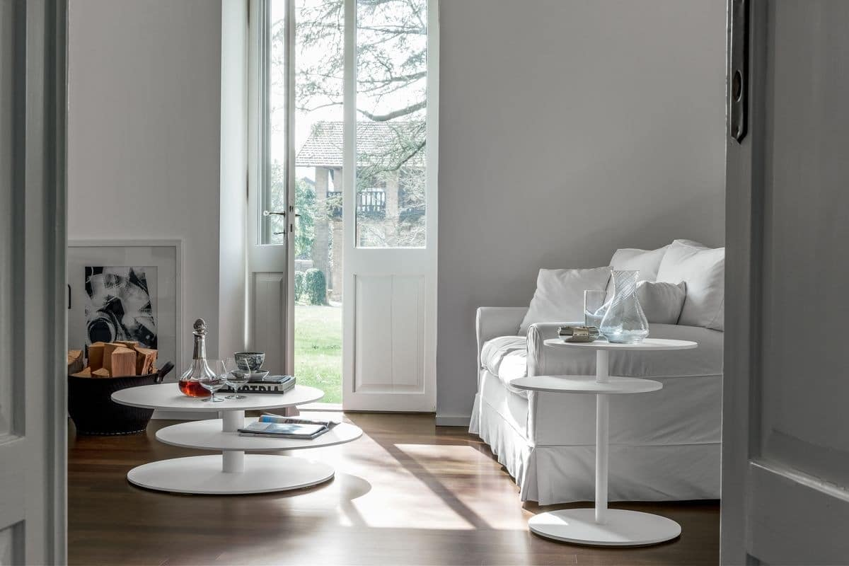SPACE, Decorative little table with three floors, for modern living room