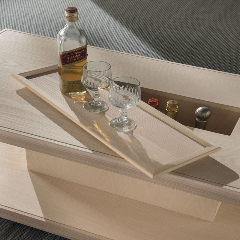 Spazio Contemporaneo SPAZE1047, Wooden coffee table, with removable tray