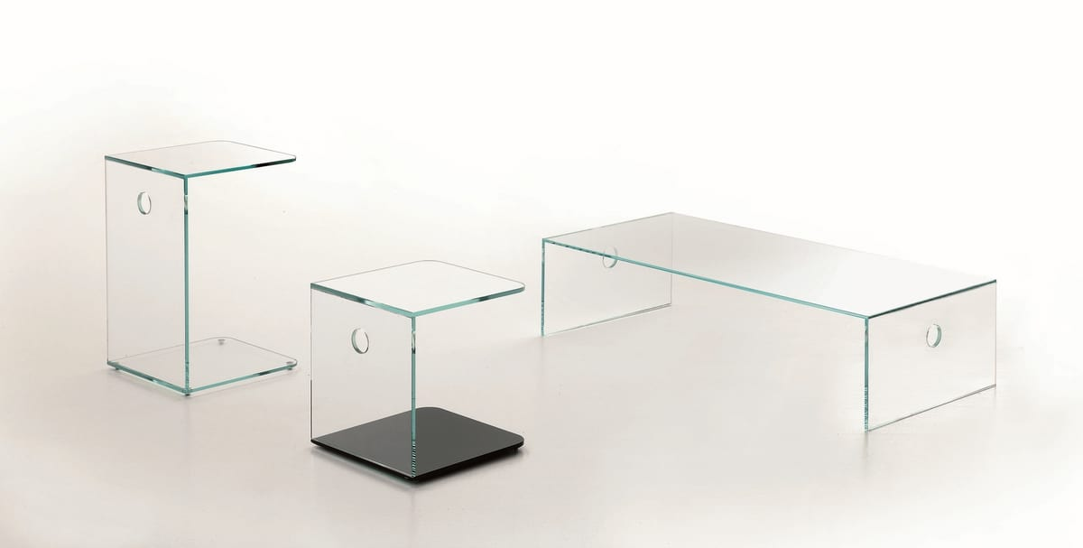 t19 atlantico, Coffee table made in glass