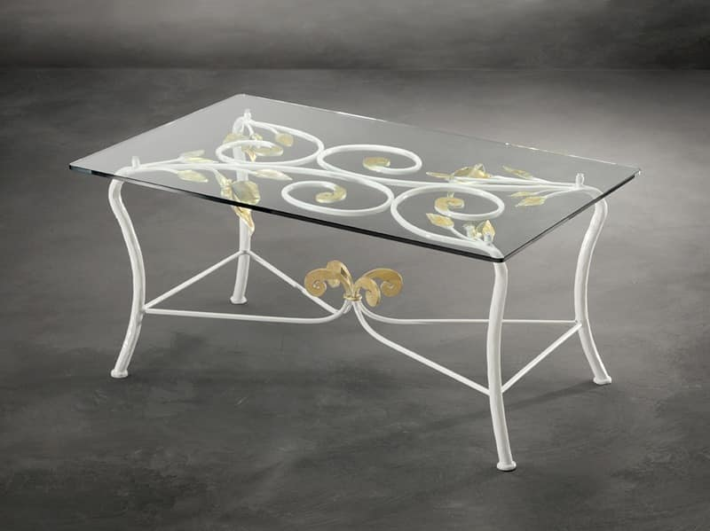 TA/210, Coffee table for center room in wrought iron, modern style