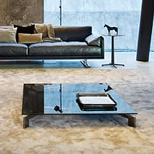 Take It Easy coffee table, Coffee table with tempered glass top