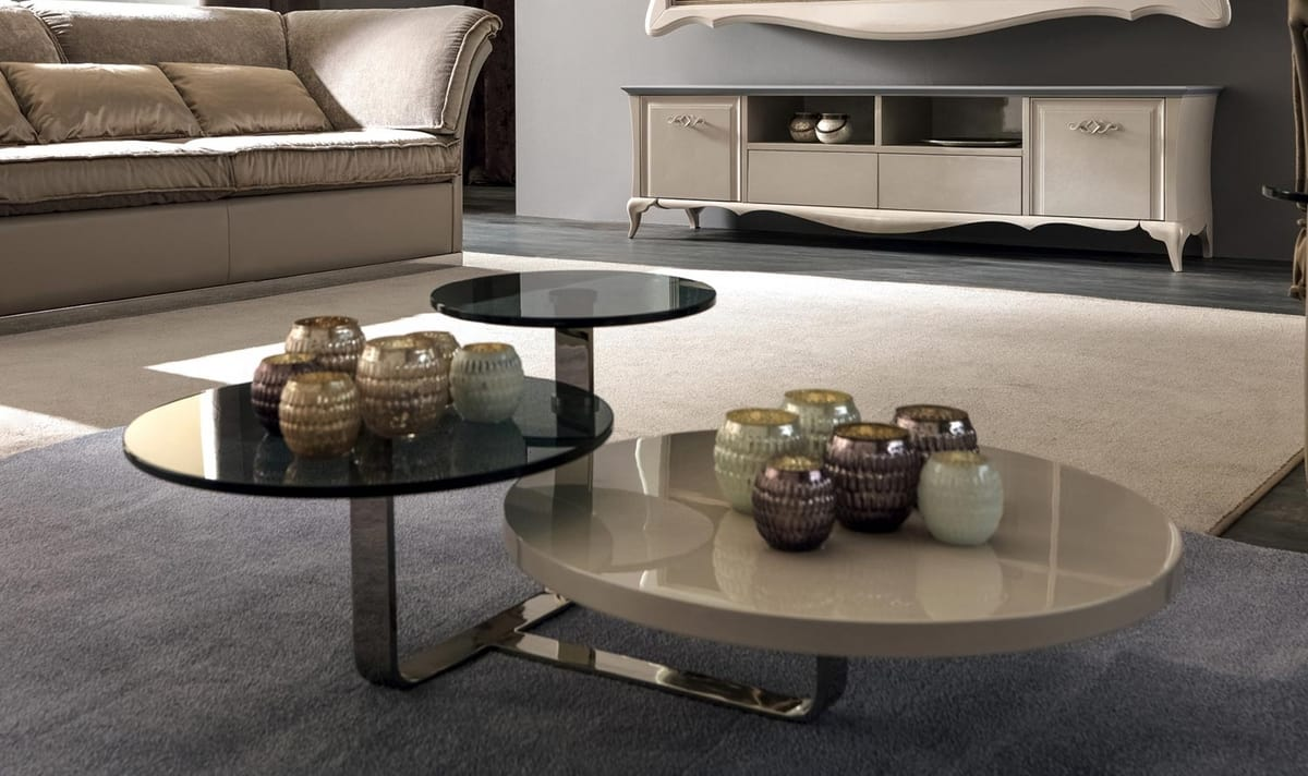 Tiago Art. 188-M, Modern coffee table with three tops