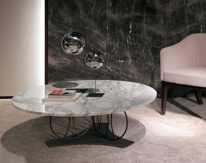 54238f1fea Coffee table with round marble top | IDFdesign