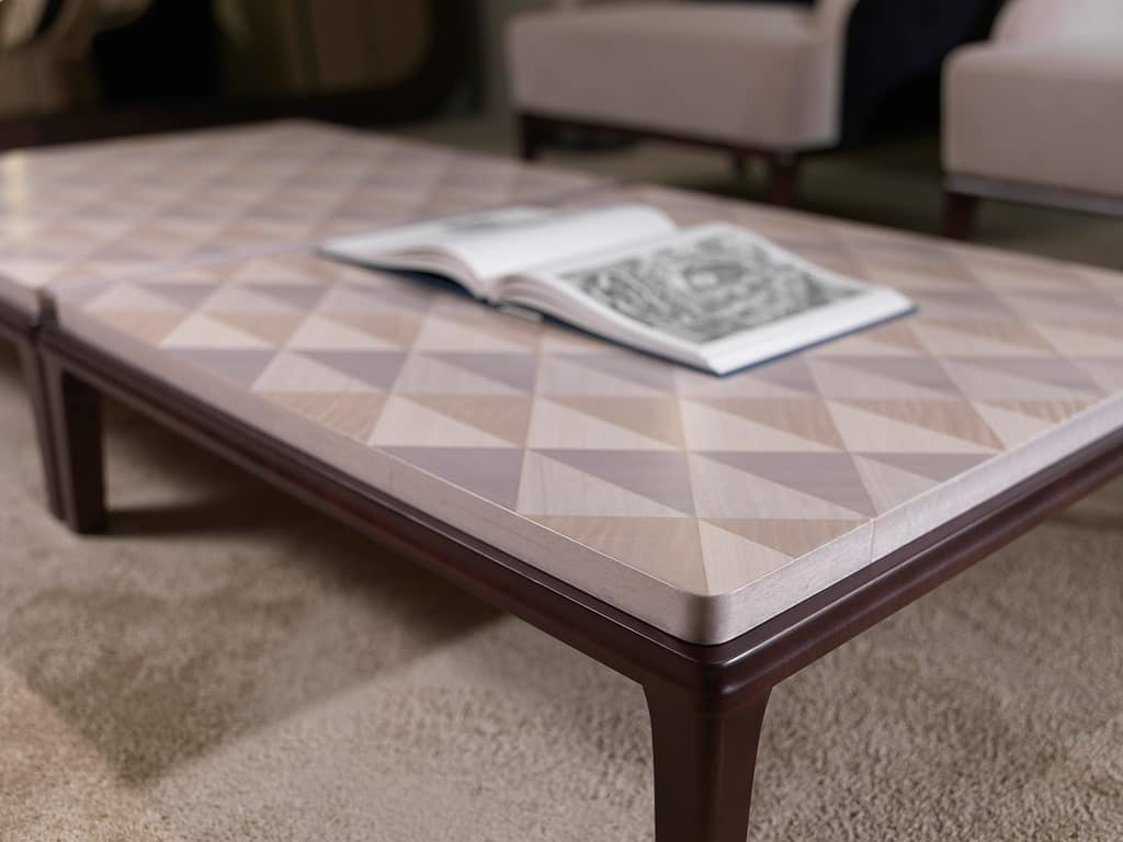 TL61 Square small table, Square coffee table for living room, in wood