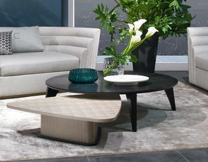 TL63B Circle small table, Circular wooden coffee table