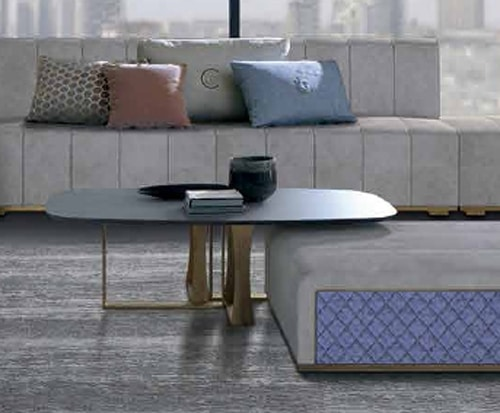 TL68 Cube small table, Coffee table with glass top in the barrel shape