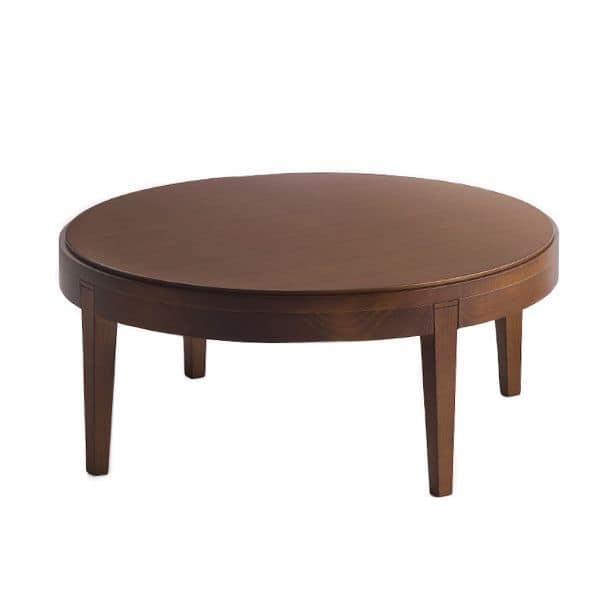 Toffee 881, Beechwood coffee table with round top