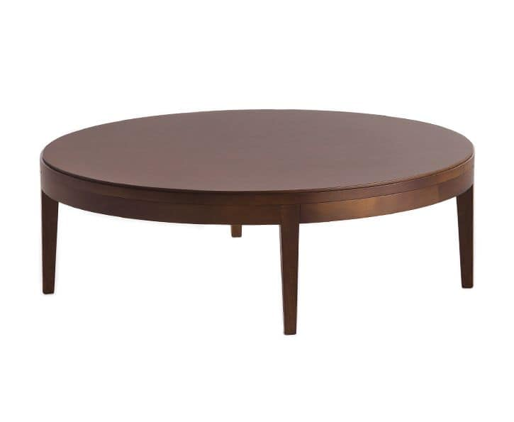 Toffee 881A, Large coffee table in wood for sitting room