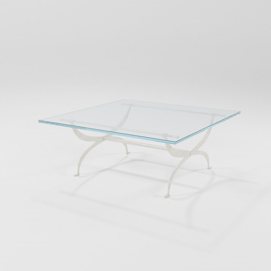 Valzer, Coffee table with iron base