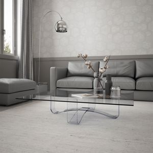 Velar 64 square, Square coffee table in glass