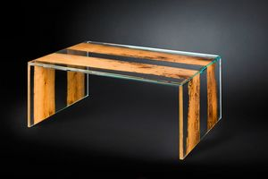 Venezia Big, Glass coffee table, with briccola sections
