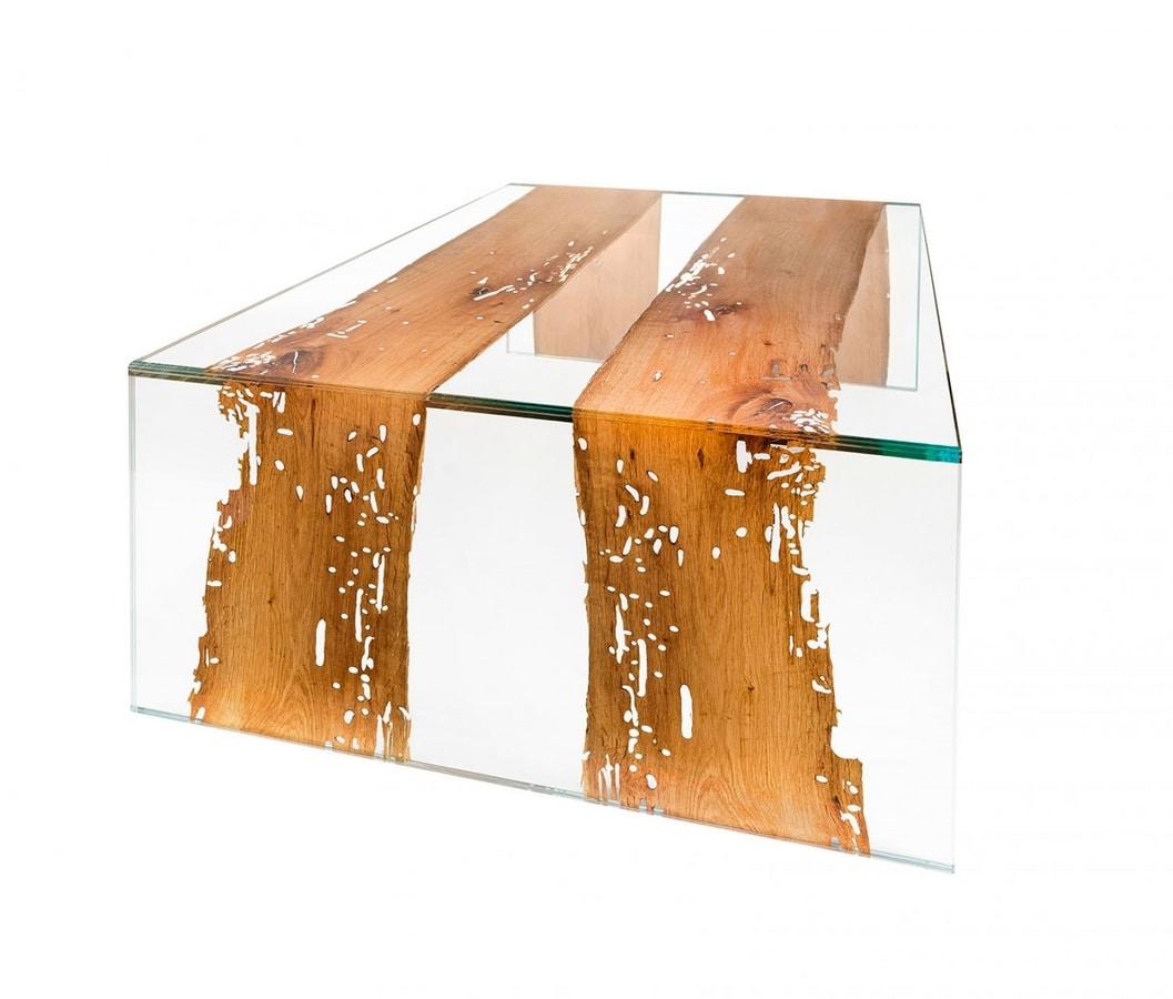 Venezia Big, Glass coffee table, with briccola sections