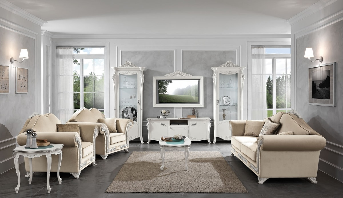 Viola coffee table, Neoclassical style coffee tables