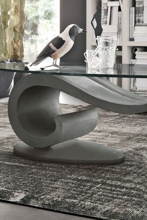 WAVE TL221, Coffee table with wave-shaped base