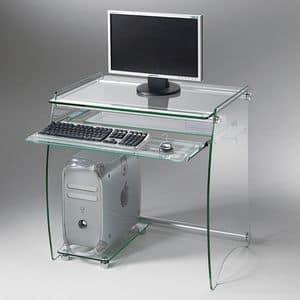 Art. 905 Rack, Desk PC holder, in transparent glass
