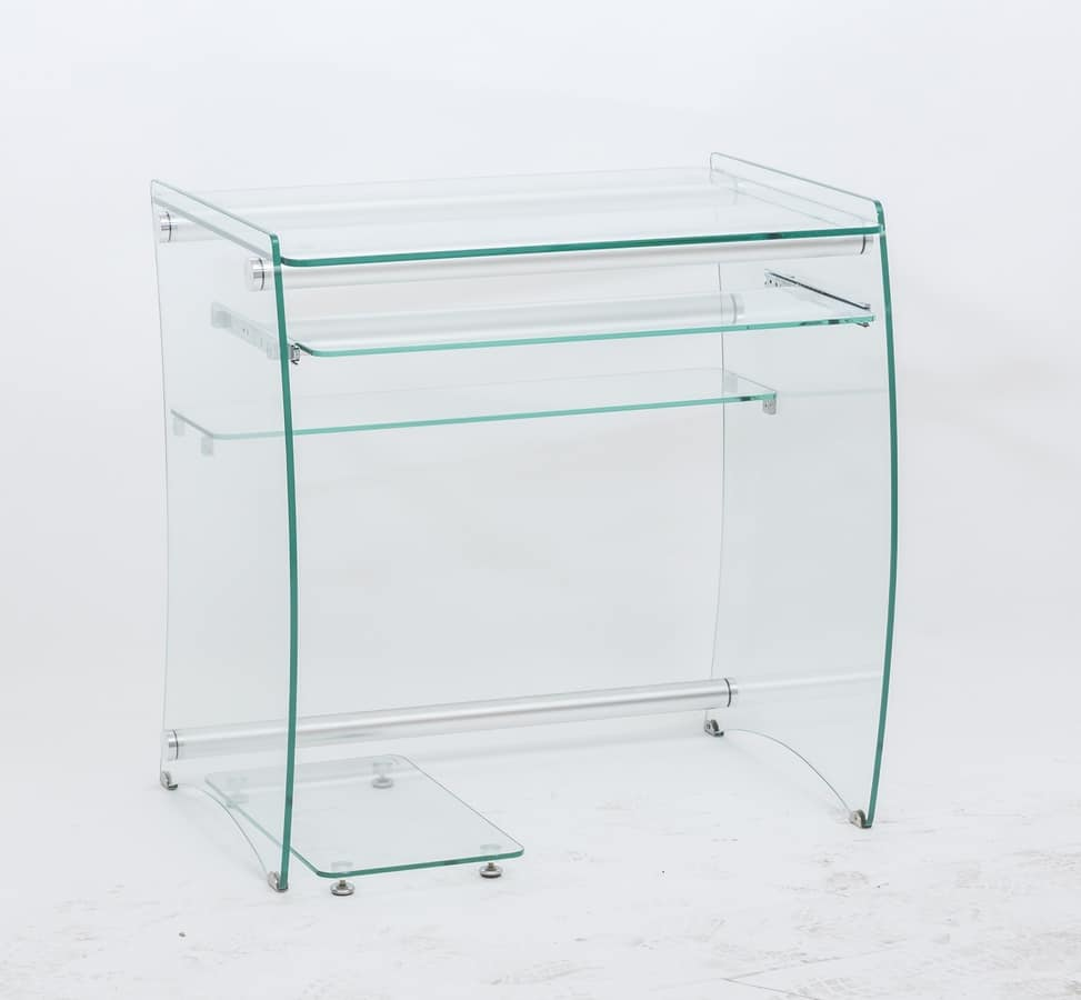 Art. 905 Rack, Desk PC holder, in transparent glass