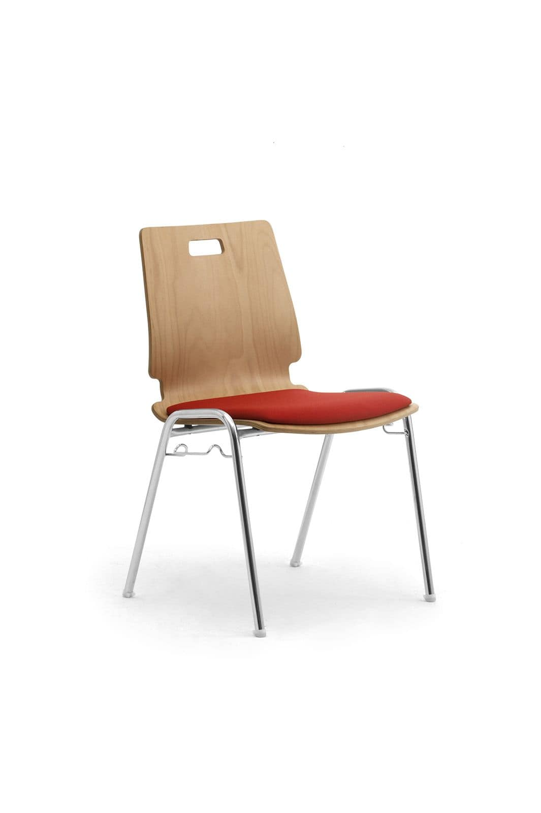 Cristallo 0662LE, Chair made of wood and metal for waiting rooms and offices