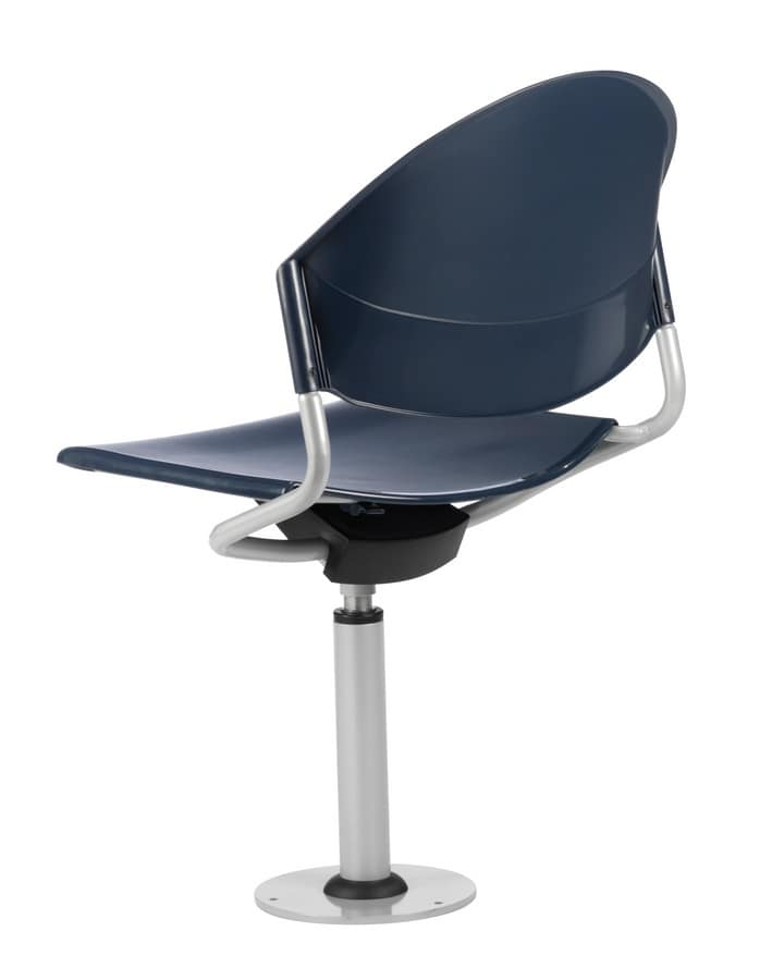 DELFI 086 F, Swivel chair, fixed to the floor, for auditoriums