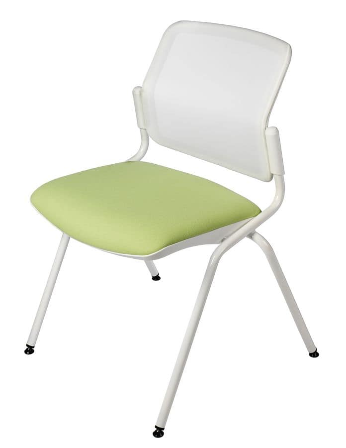 NESTING DELFINET 073, Metal chair, padded seat, for meeting rooms