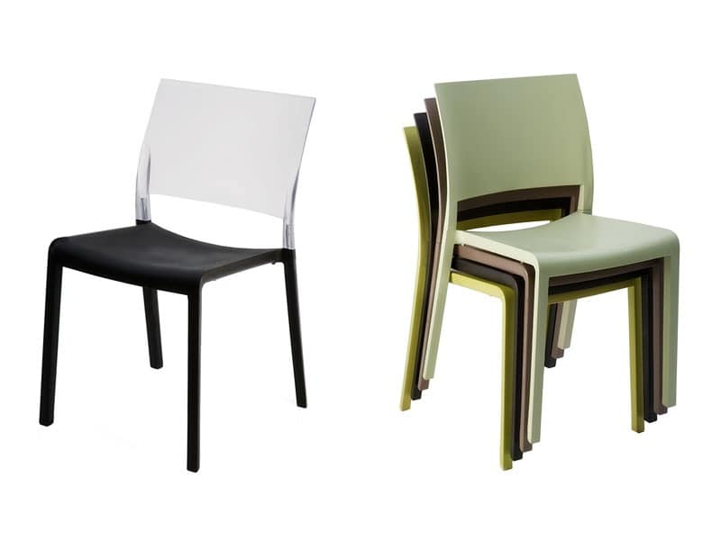 Fiona - S, Chair made entirely of plastic, resistant to sun
