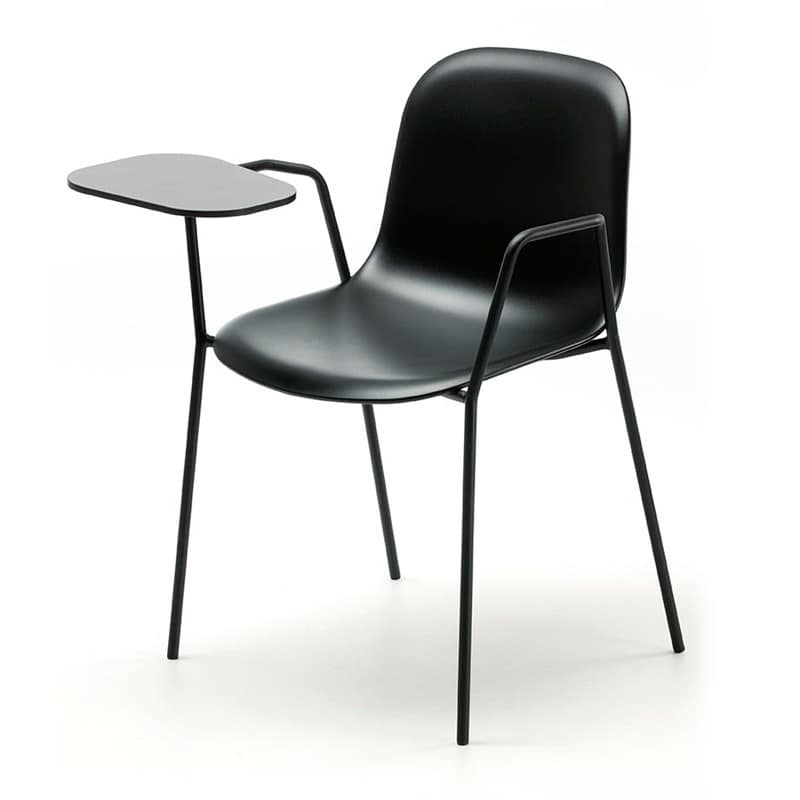 Máni AR-4L, Padded stackable chair, with 4 steel legs