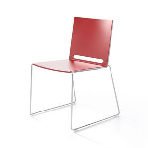 Multi, Metal and plastic chair, stackable, for Congress
