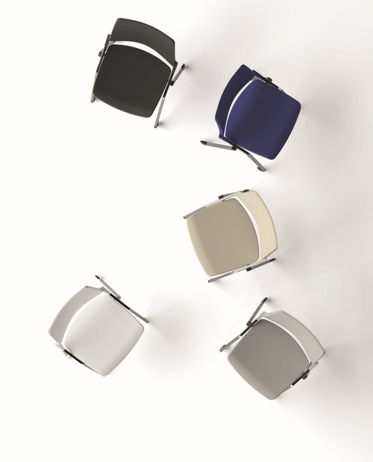 Oplà, Comfortable chair, stackable, for conference room