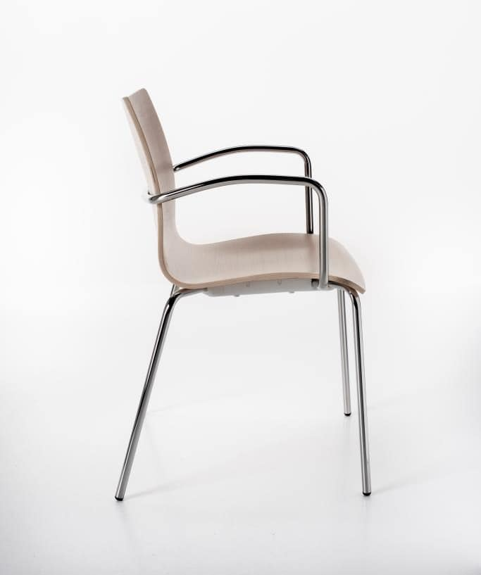 Perfecta with armrests, Chair with armrests, for multipurpose rooms