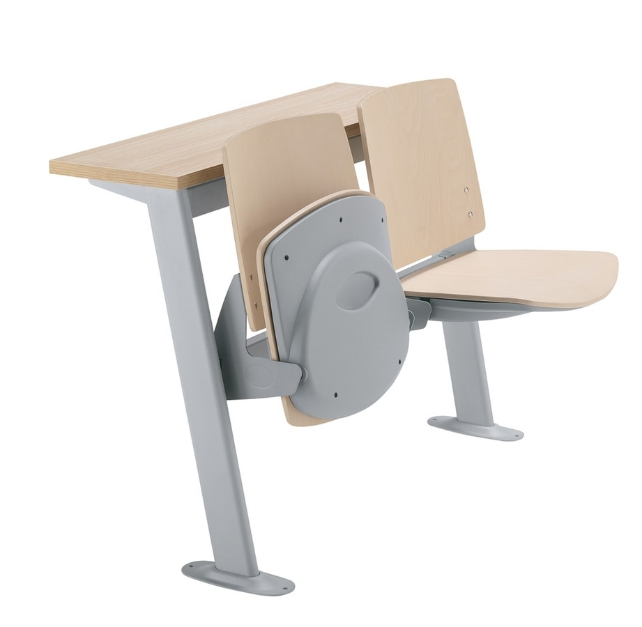 Q44 Banco, Study bench for university with tip-up seat