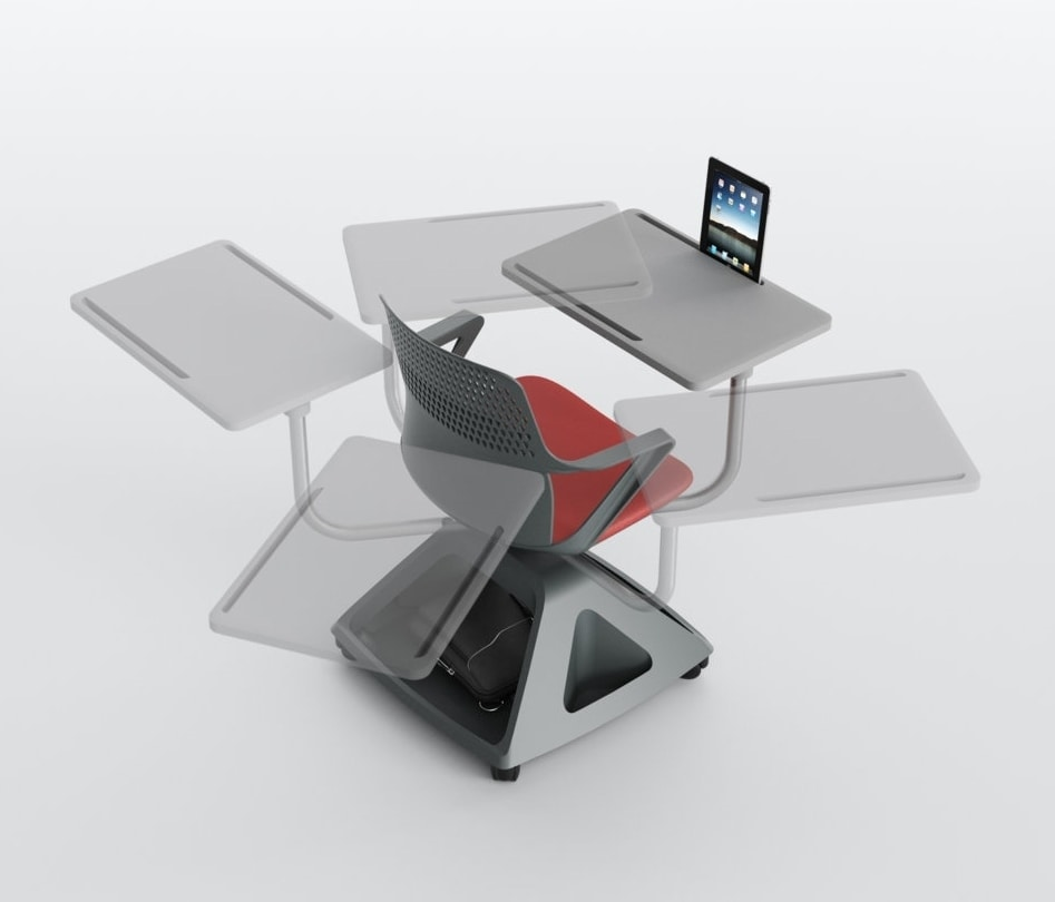 Rover EVO, Chair with folding tablet, and base thing-holder